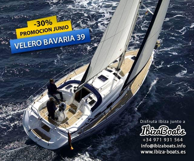 promoción alquiler velero ibiza