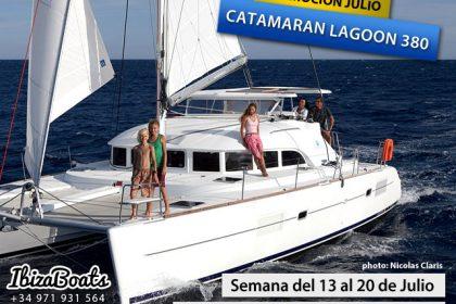 Alquiler catamaran ibiza lagoon380 promocion