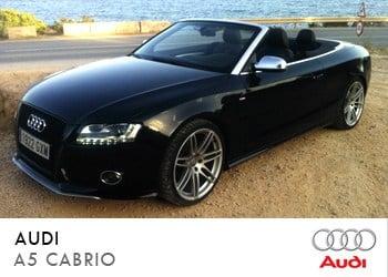 Alquiler de coche vip Audi A5 Cabrio en Ibiza