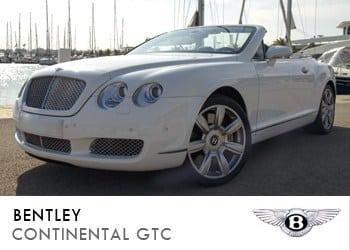 Alquiler de coche vip Bentley Continental GTC en Ibiza