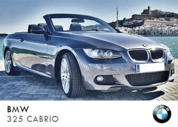 Alquiler de coche vip BMW 325 Cabrio en Ibiza