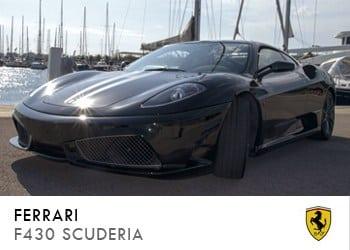 Alquiler de coche vip Ferrari F430 Scuderia en Ibiza