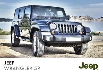 Alquiler de coche vip Jeep Wrangler 5P en Ibiza