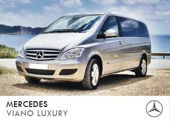 Alquiler de coche vip Mercedes Viano Luxury en Ibiza