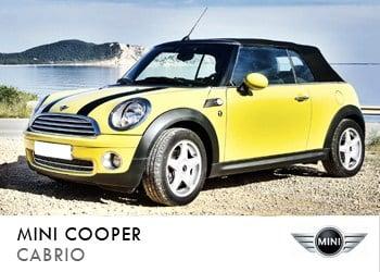 Alquiler de coche vip Mini Cooper Cabrio en Ibiza