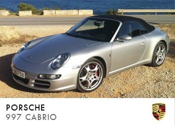 Alquiler de coche vip Porsche 997 Cabrio en Ibiza