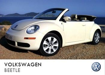 Alquiler de coche vip Volkswagen Beetle en Ibiza
